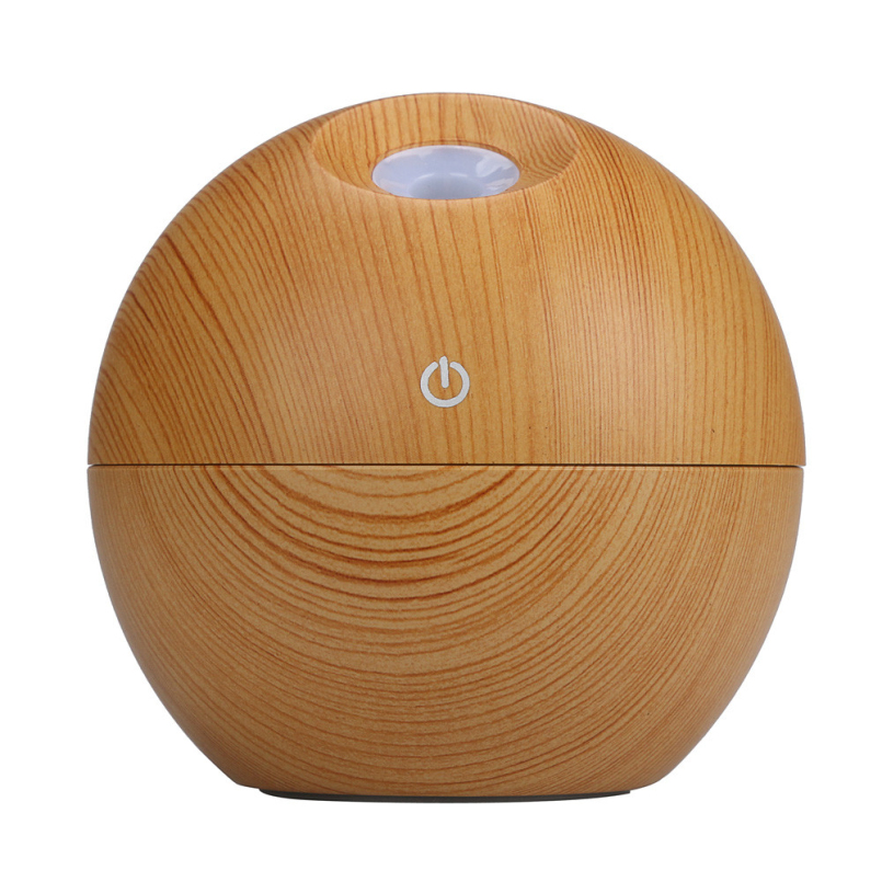 Top Grand 130ml USB Mini Wooden Ultrasonic Aromatherapy Humidifier Portable Mist Maker LED Light Aroma Diffuser Air Purifier