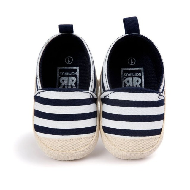 5fa5627fd3c3 2018 Fashion Blue Striped Baby Boy Shoes Lovely Infant First Walkers Good  Soft Sole Toddler Baby Shoes Hot Sale New P11