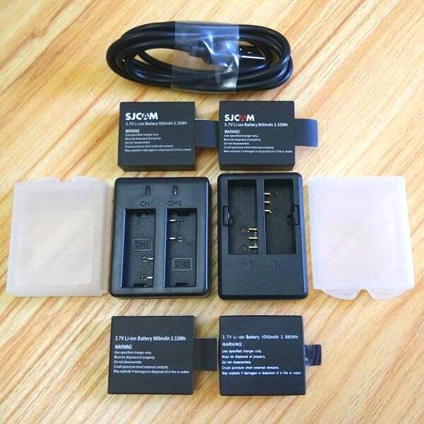 SJCAM Original Battery Charger 1050/1350mAh Battery For SJ4000 Wifi Sj5000 M10 C30 EKEN H9R THIEYE T5 Edge E7 Camera Accessories
