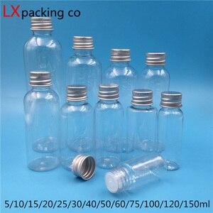 Image 1 - 50 개 무료 배송 5 10 25 30 60 100 150 ML 빈 투명 플라스틱 포장 병 화장품 용기 소매 도매