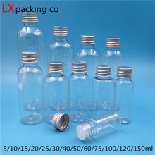 50 PCS Free Shipping 5 10 25 30 60 100 150 ML Empty Clear Plastic Packaging Bottles Cosmetic Containers Retail Wholesale