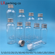 50PCS 5ML 10ML 25ML 30ML 60ML 100ML 150 ML Empty Clear Plastic Packaging Oil Perfume Bottles Cosmetic Containers Free Shipping