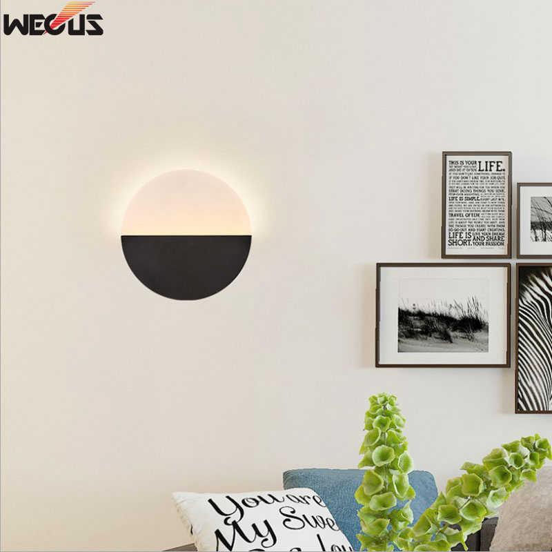(WECUS) скандинавский настенный светильник для спальни, креативная гостиная/прохода/лестницы/прикроватная настенная лампа, ТВ-фонарь настенный с задним освещением