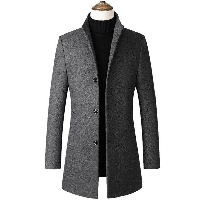 Winter Jacket Men Parkas Coat Fleece Jacket Man Windbreaker Military Jacket Coat Fitness Stand Collar Park