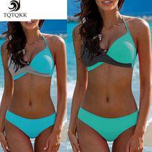 Купить с кэшбэком 2019 Sexy Solid Push Up Bikini Set Plus Size Swimwear Women Swimsuit Female Brazilian Biquini bandage Bathing Suit BeachwearXXL