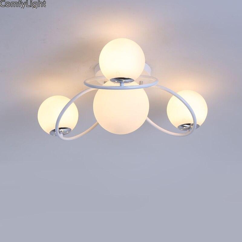 Glass Bubble Ceiling Lights Lighting Fixture Modern Lamps Living Room Bedroom Kitchen Surface Mount home Decor LED hanglamp E27