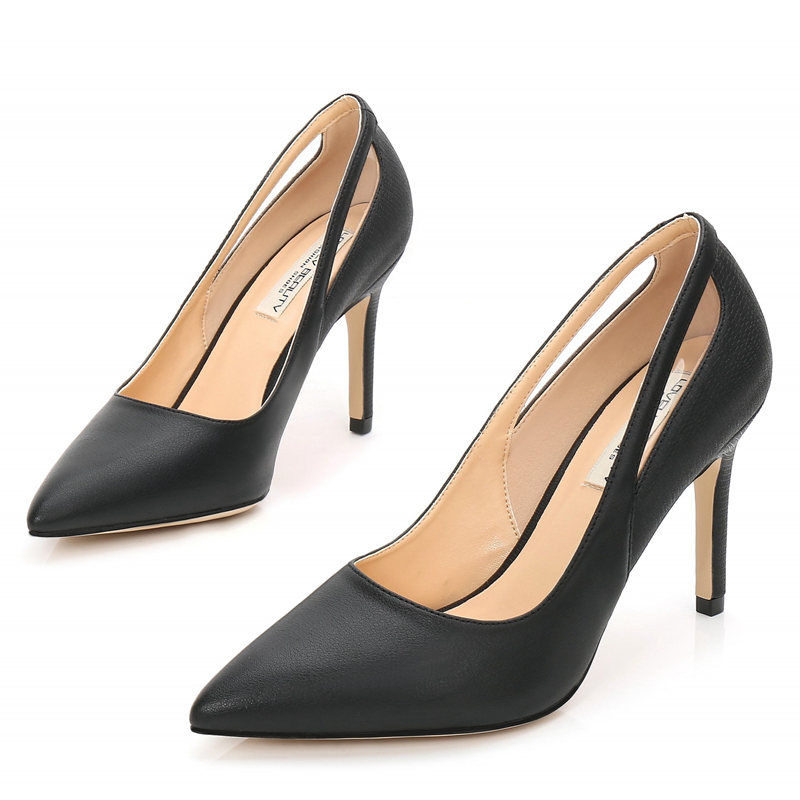 2019 New White Thin High Heels Women Pumps Shoes Pointed Toe 9cm Fashion Sexy Comfortable Female Shoes Party Office E0020 in Women 39 s Pumps from Shoes