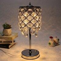 Hotel Crystal Decoration Table Lamp Modern Bedroom Art Deco Bedside Desk Lamps Romantic Wedding Lighting