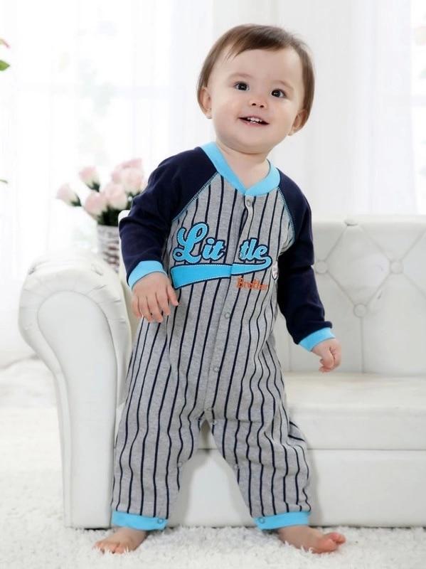 Ny vinter fleece baby tøj baby dreng lange ærmer bodysuit baby dreng jumpsuit 9 farver 1 stk Freeshipping HB002-1