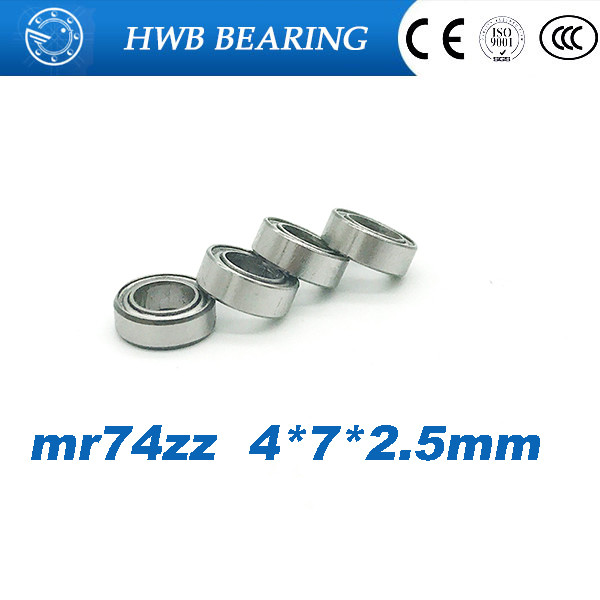 Free shipping 10PCS mini bearing MR74ZZ L-740ZZ 4x7x2.5mm bearings P5 MR74 ZZ 4*7*2.5 deep groove ball bearings free shipping 10pcs lot mr84 mr84z mr84zz 4x8x3 mm deep groove ball bearings miniature model bearing mr84 l 840 zz