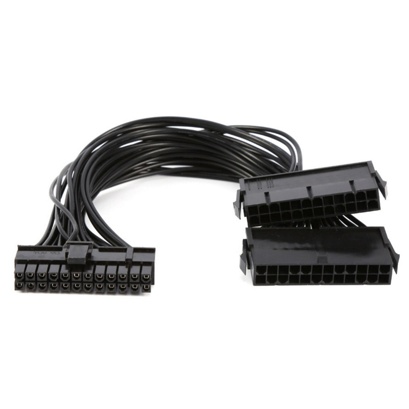24 pin Dual Psu ATX Power Supply 30cm Adaptor Cable Connector for Mining 24Pin 20+4pin Dual PSU