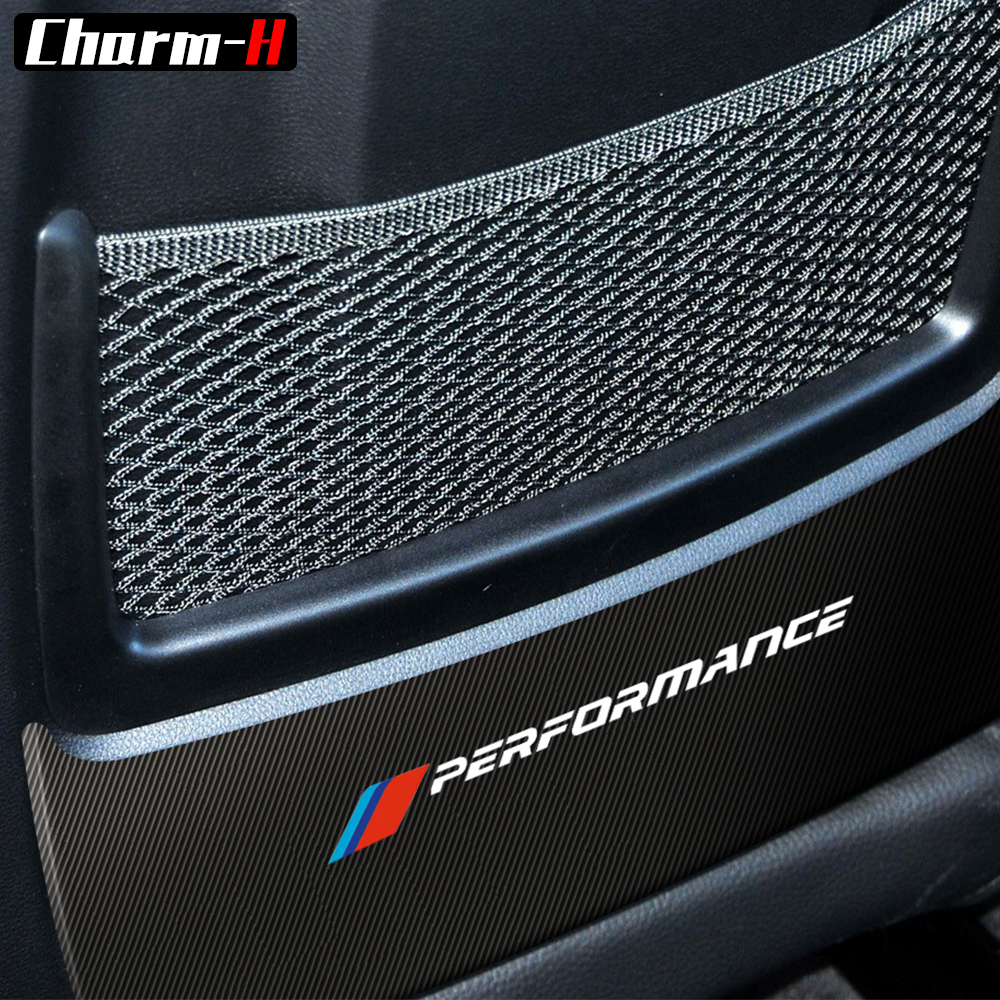 Car Styling Anti Kick Collison 5D Carbon Fibre Seat Back Cover Decal Sticker For BMW F20 F30 E90 F33 F34 F36 X1 E84 Accessories