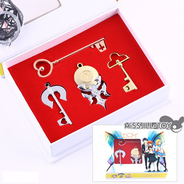 4pcs set fashion jewelry necklace anime nisekoi kirisaki