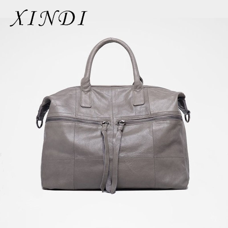 XINDI women genuine leather handbag Female Shoulder Bags For Ladies Messenger Bag Large Top-handle Bag fashion female bag Tote new genuine leather totes female shoulder crossbody bags for women leather handbag ladies messenger bag large top handle bag