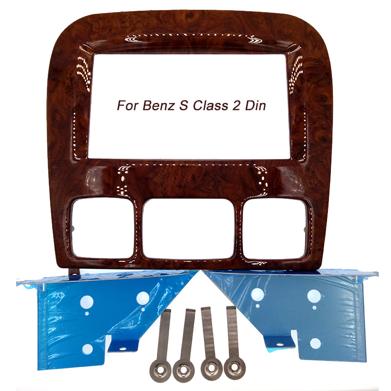 NEW DOUBLE DIN DVD audio dash kit facia stereo trim frame panel fascia for BENZ S