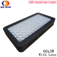 Hot 180W Dimmable led aquarium light 60X3W Fish tank System for warehouse and quarim tank dropshipping