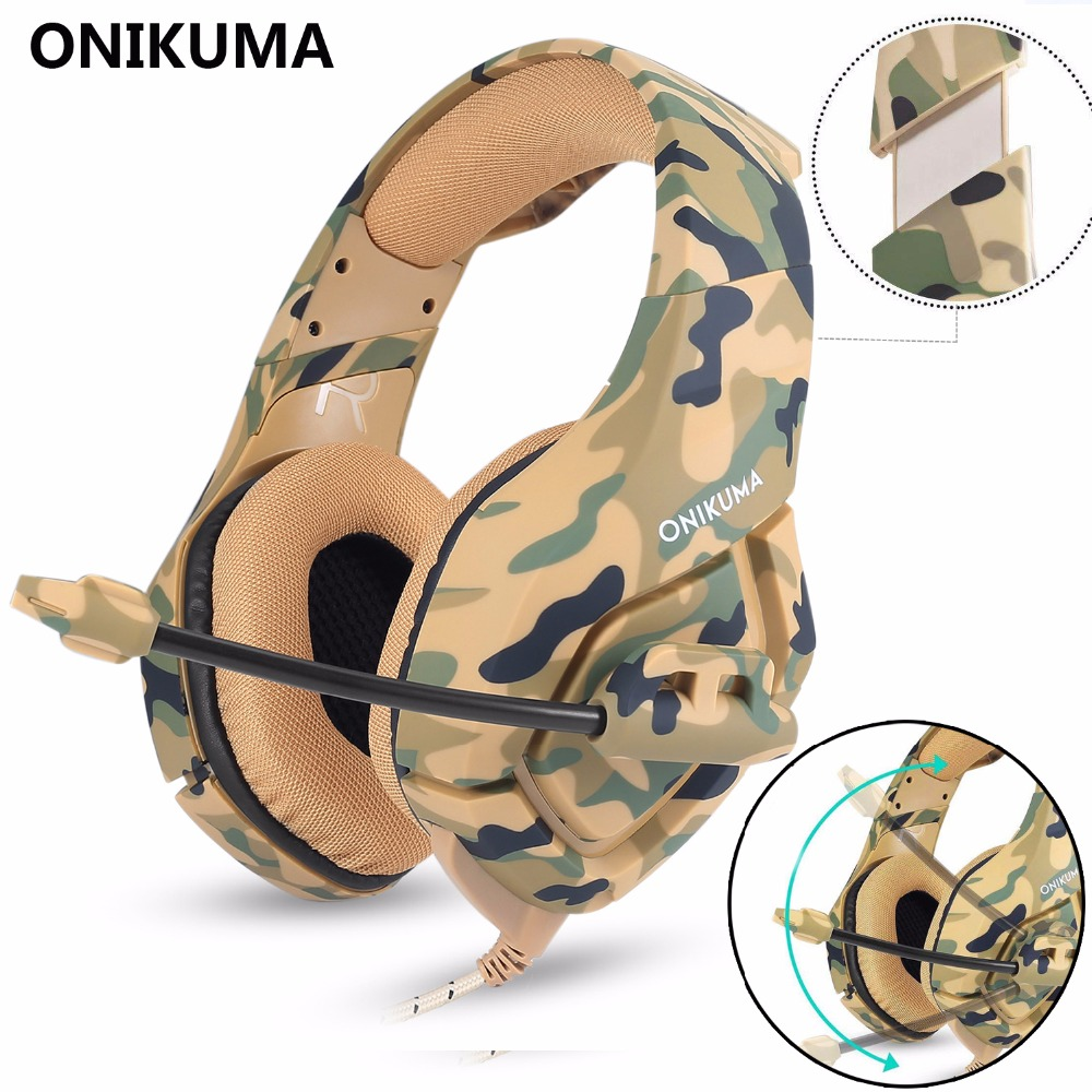 ONIKUMA Gaming Headset Gaming headphone Wired Earphone Casque Gamer Stereo Bass with Microphone Headphones For PS4 Laptop PC onikuma m190 pc gamer headset over ear best gaming headphones with microphone for computer casque bass stereo earphones headsets