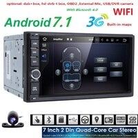 2G + 16G Quad Core Android 7.1 car multimedia player di navigazione gps video universale 2 din car audio per nissan xtrail Qashqai juke