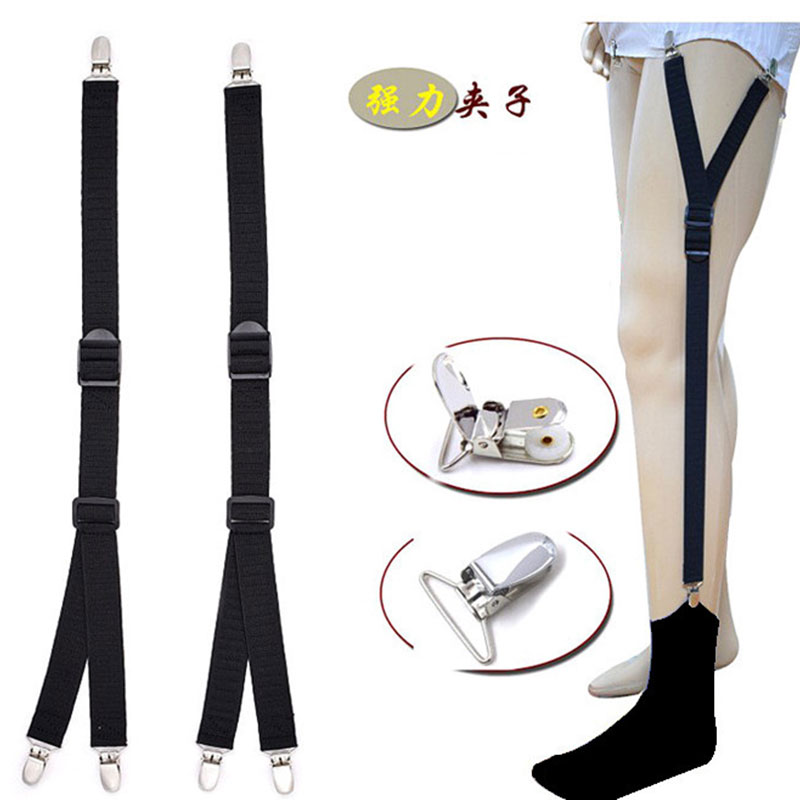 Men Women Shirt Suspenders Stays Gentleman Leg Braces For Shirts Suspender Nylon Shirt Stays Mens Gentleman Shirt Holder Garters