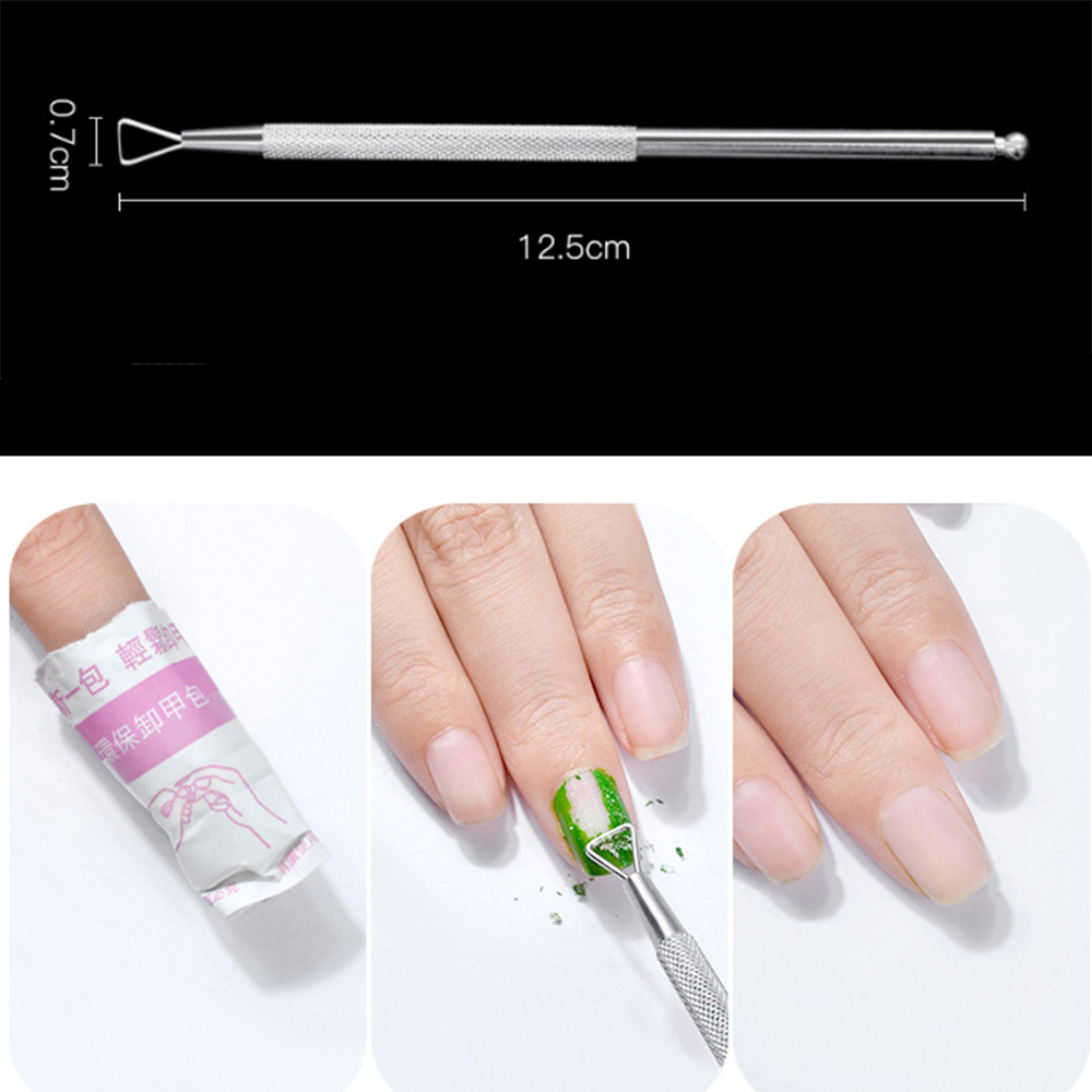 Professional Stainless Steel Triangle Head Cuticle Pusher Nail ...