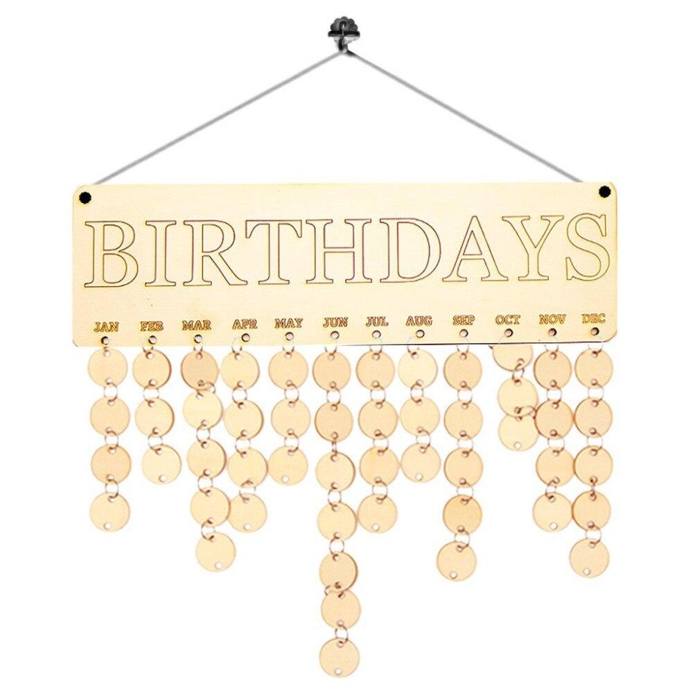 DIY деревянный Календари доска Семья Друзья День рождения Календари знак особые даты планировщик доска висит Декор подарок