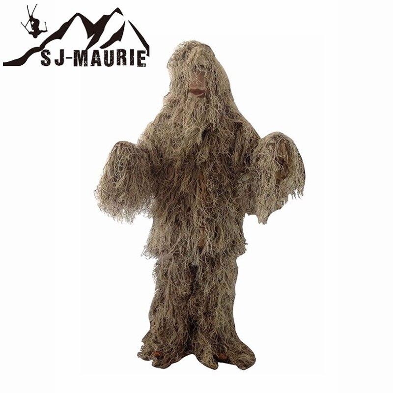 5 pièces Hiver Ghillie Camuflaje Gorra Chasse Ghillie Vert Gris Vêtements De Chasse Tireur D'élite de L'armée Camo Jungle Tactique Costume