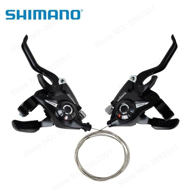 Shimano Bicicleta Shifters ST-EF51-7 EF51 Mountain Bike Shifter Set Ciclismo Alavancas Alavancas de Mudança De velocidades 24 21 Preto