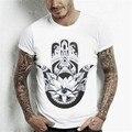 2016 Men Summer Fashion 9 Prints Short Sleeve O Neck Cotton T-shirt Men Tops Shirt S M L XL XXL Size SNZ0412-1