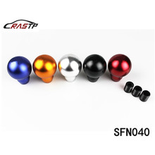 RASTP-Universal Round Ball Gear Shift Knob Racing Car Handle for Most with logo RS-SFN040