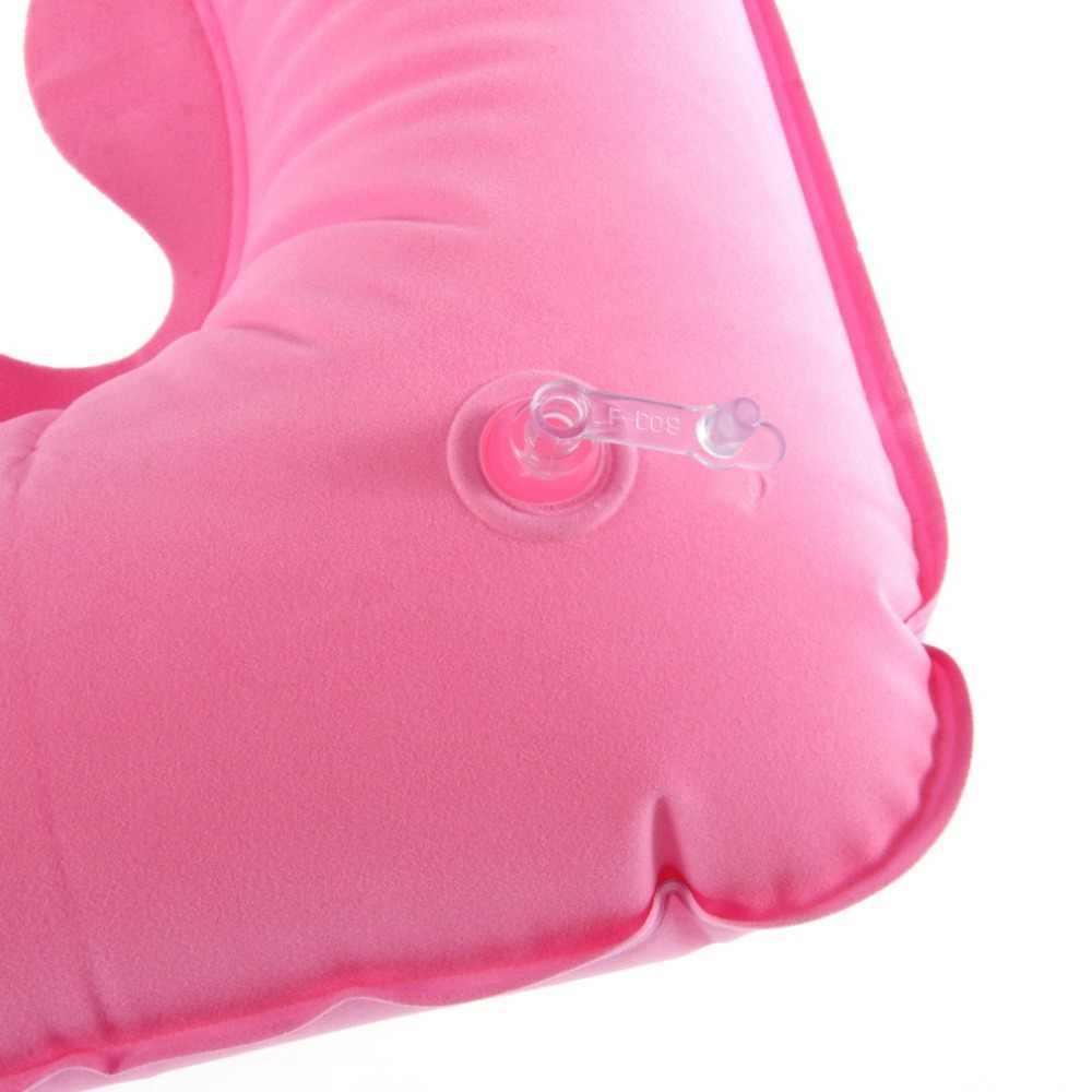 1 adet şişme yastık hava yastığı boyun yastığı U şekilli kompakt uçak uçuş seyahat yastık ev tekstili damla nakliye