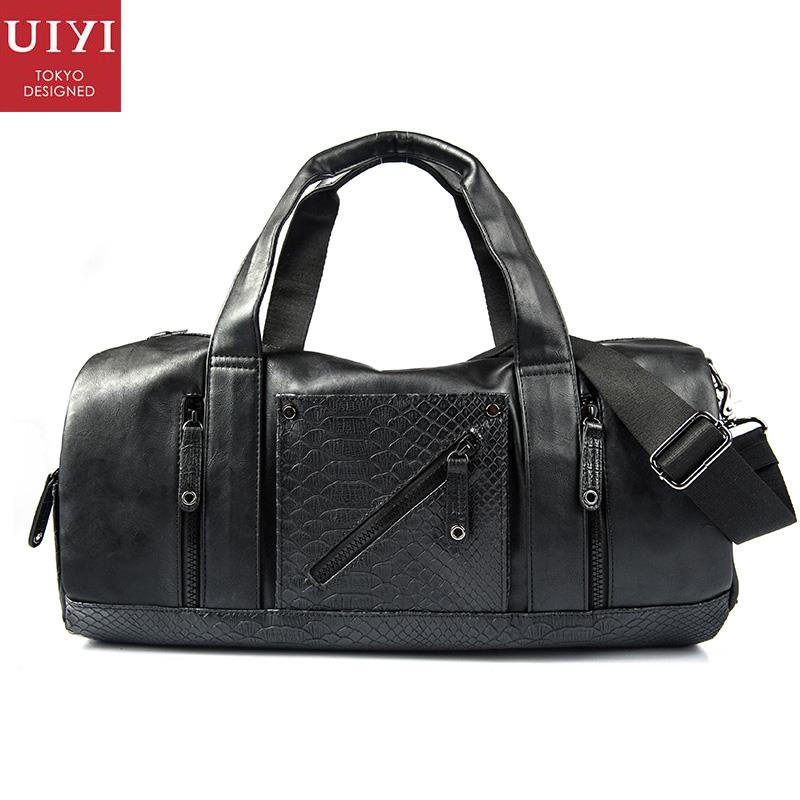 UIYI Brand PU Leather Men Handbag Shoulder Bags CROCO Travel Bucket Tote Sling Satchel Messenger Crossbody Bag Teenagers 160037 uiyi fashion pu leather handbag men casual messenger shoulder bag crossbody business sling satchel male tote bags 160077