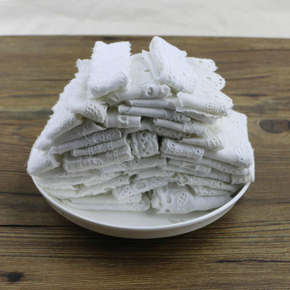 2 ياردة 1 6 6 8 سنتيمتر القطن الأبيض الدانتيل النسيج Diy قماش