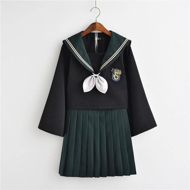 New Japanese JK School Uniforms Harry Potter College Style Long Sleeve Sailor Suit Girls Novelty School