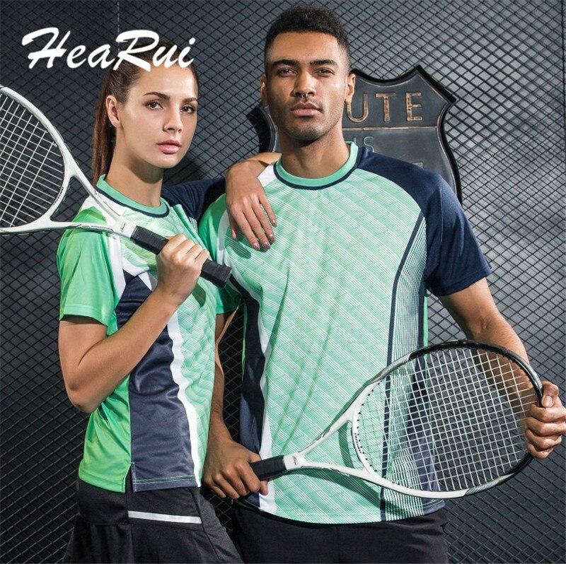 2017 New Women Tennis Shirts High Quality Men Outdoor Sports Running Fitness Short Sleeve T-shirt Company Team Uniforms