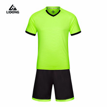 LIDONG Kids Football Kits Boys tracksuit Soccer Sets Jersey Uniforms Futbol Training Suits Polyester shirt Short Sleeved Jerseys