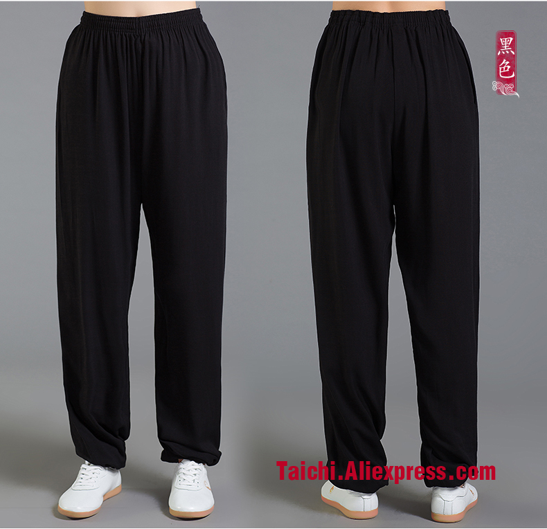 Linen Tai Chi Pants  Spring and Summer Wu Shu Pants Martial Art Pant 9 color S-XXXL