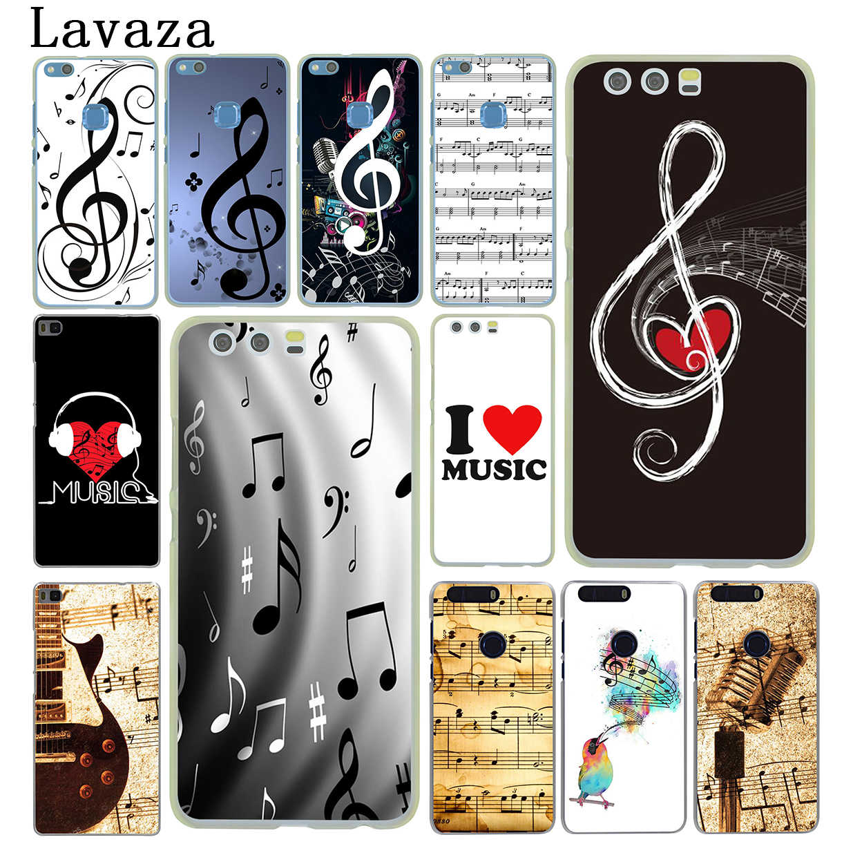 Lavaza old musical note Hard Phone Cover for Huawei P8 P9 P10 P20 P30 Lite Plus P20 P30 Pro P smart 2019 Case