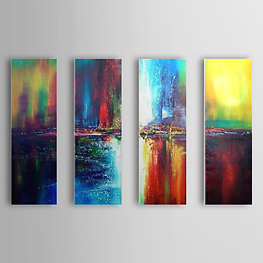 Color Dream 4 Piece Large Paint By Number Kits Abstract Modern Texturewall Art Decor Oil