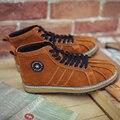 Высокого топы мужская обувь Европейский станция тенденция Британских сапоги толстым дном shell начальник ретро мужская обувь