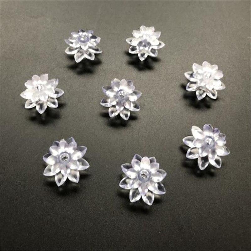 60pcs Soft Plastic Little Lotus For LED String Lights Lover's Day Holiday EventsHolidays Garland Decor. Flowers