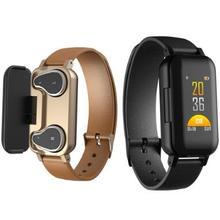 T89 TWS Bluetooth headset wireless headphone Fitness Bracelet Heart Rate Smart Wristband Watch Men Women Pk redmi airdots