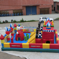 Hot sale inflatable circus bouncer inflatable fun city