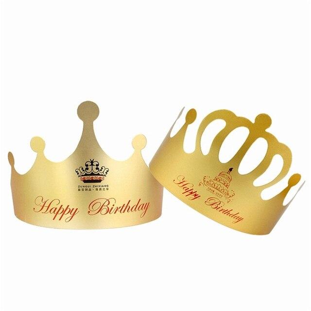 10pcs Pack Boy Girls Kid Princess King Crown Party Cap Hat Decorations For Children Birthday Hats Celebration Decor