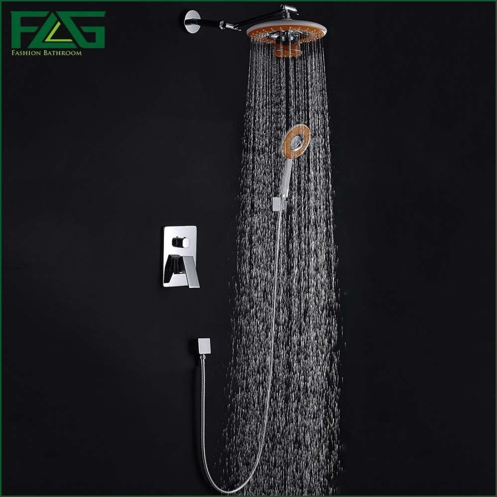 Music bathroom set - Concealed Shower Set Panel Bathroom Mixer Faucet Bath Tap Shower Head With Phone Bluetooth Listen Music Chrome Polished Hs045