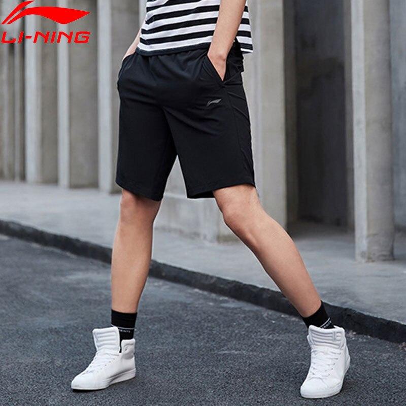 (Clearance)Li-Ning Men Training Shorts AT DRY 86% Polyester 14% Spandex LiNing Breathable Sports Shorts AKSP043 MKD1621