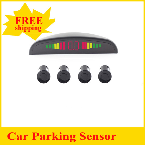 Car Parking Sensor 4 Sensors Assistance Reverse Backup Radar Monitor System Display 22mm 12V White Black Silver for all Cars