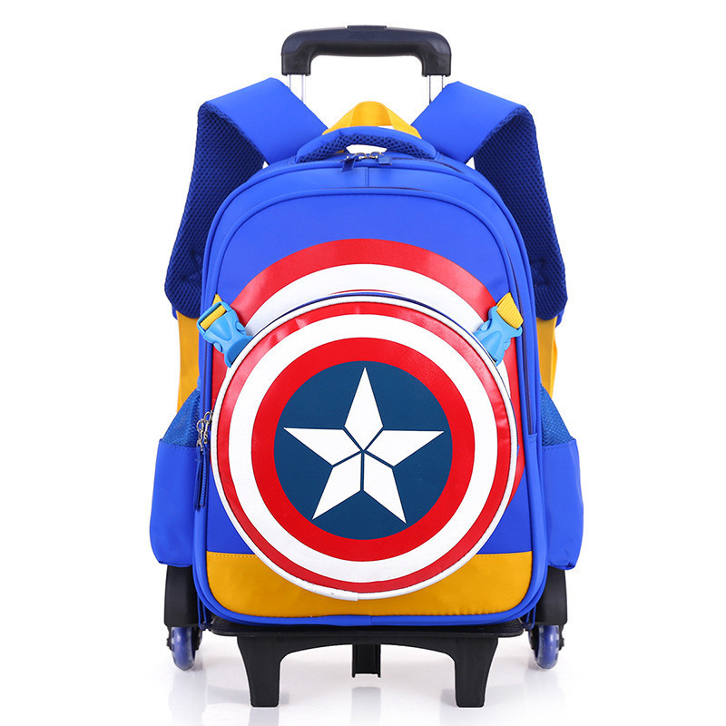Trolley Children School Bags Mochilas Kids Backpacks With Wheel Trolley Luggage For Boys backpack Escolar Backbag Schoolbag children school bag minecraft cartoon backpack pupils printing school bags hot game backpacks for boys and girls mochila escolar