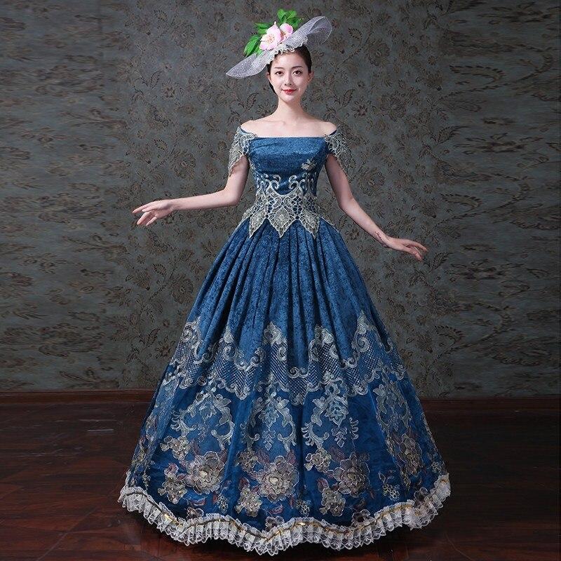 Fête d'halloween femmes gothique robe victorienne 18th siècle scène Performance robes de bal Costume peroïde