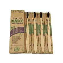 ExiuBro Vegan Free Bamboo Toothbrush Natural Pack of 4 Eco Friendly Toothbrushes with Soft BPA Bristle
