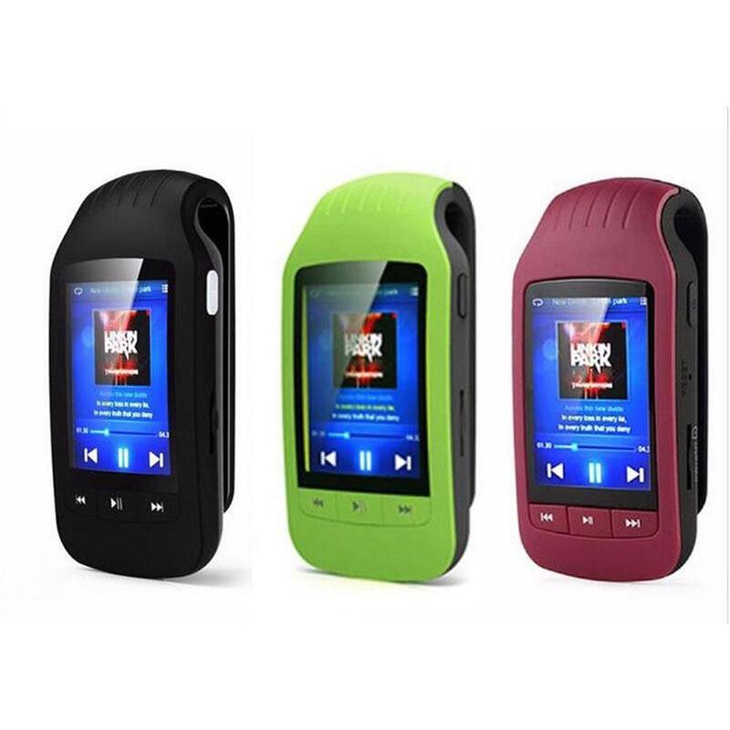 HOTT portable mini bluetooth mp3 player mp3 music player with sport clip Sport Pedometer FM Radio SD Card 1.8 Inch Screen portable media player